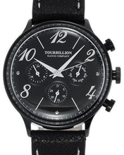 Load image into Gallery viewer, TOURBILLION T1452-IPBLK-BLK-BLK RETRO Brand New Quartz day date Watch