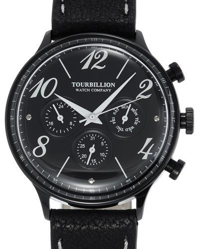 TOURBILLION T1452-IPBLK-BLK-BLK RETRO Brand New Quartz day date Watch