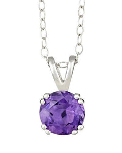Brand New Necklace with 1.3ctw amethyst 925 Silver sterling silver