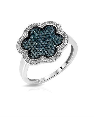 Lundstrom Brand New Ring with 0.52ctw of Precious Stones - diamond and diamond 14K White gold