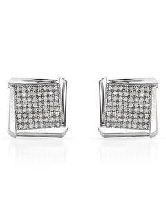 Lundstrom Brand New Earring with 0.55ctw diamond 10K White gold