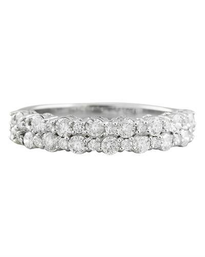 0.75 Carat 14K White Gold Diamond Ring