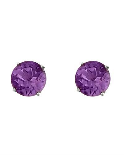 Brand New Earring with 2.6ctw amethyst 925 Silver sterling silver