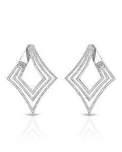 Brand New Earring with 1.58ctw diamond 10K White gold