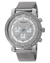 Load image into Gallery viewer, Akribos XXIV AK713SS Brand New Japan Quartz date Watch with 0.06ctw diamond