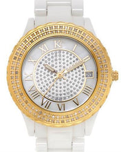 Load image into Gallery viewer, KC WA005296 Brand New Quartz date Watch with 0.5ctw of Precious Stones - diamond and mother of pearl