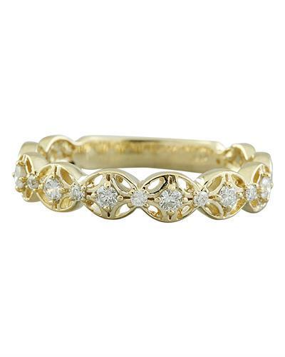 0.25 Carat 14K Yellow Gold Diamond Ring