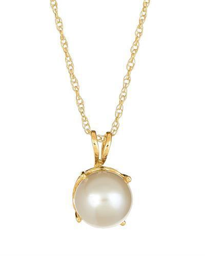Brand New Necklace with 0ctw pearl 14K Yellow gold