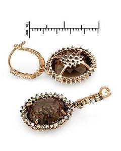 Brand New Earring with 14.45ctw of Precious Stones - diamond and topaz 14K Rose gold