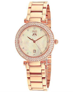 Jivago JV5312 Parure Brand New Quartz date Watch with 0ctw of Precious Stones - crystal and mother of pearl