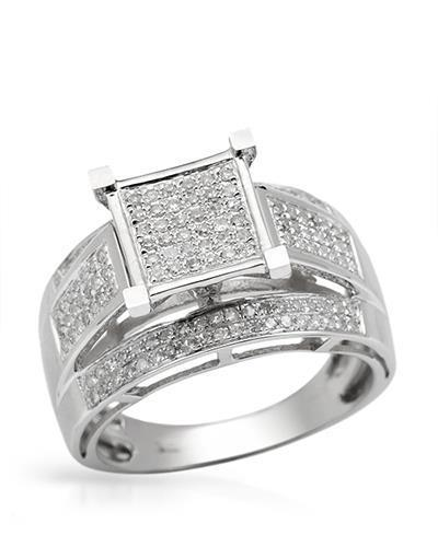 Lundstrom Brand New Ring with 0.7ctw diamond 10K White gold