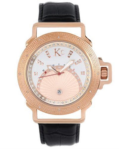 KC WA008479 Brand New Japan Quartz day date Watch with 0.024ctw diamond