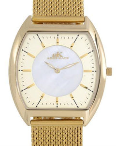Adee Kaye AK2200-MGG Brand New Japan Quartz Watch with 0ctw mother of pearl