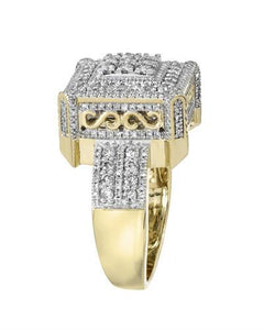 Brand New Ring with 1.56ctw diamond 10K Yellow gold