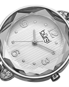 burgi BUR124SS Brand New Quartz Watch with 0ctw Swarovski Crystal