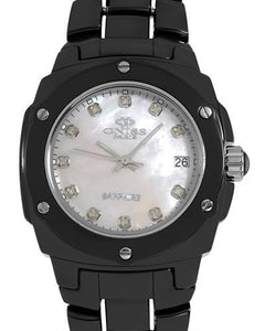 Oniss ON436-L Paris Brand New Swiss Quartz date Watch with 0.05ctw of Precious Stones - diamond and mother of pearl
