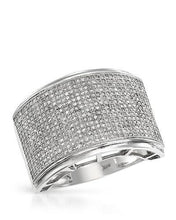Load image into Gallery viewer, Lundstrom Brand New Ring with 1.55ctw diamond 10K White gold