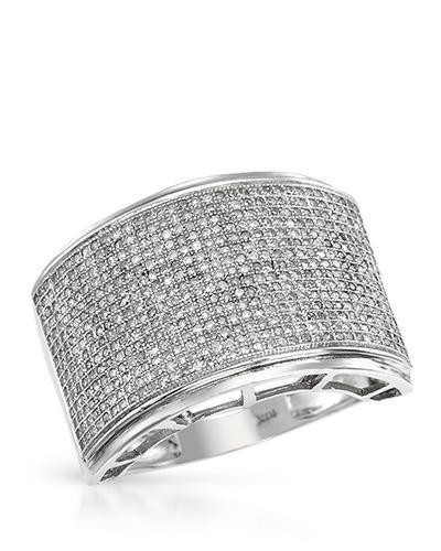 Lundstrom Brand New Ring with 1.55ctw diamond 10K White gold