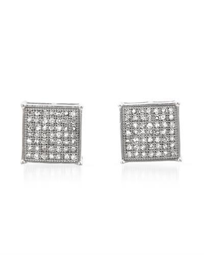 Lundstrom Brand New Earring with 0.35ctw diamond 10K White gold