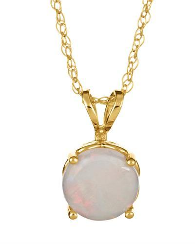 Brand New Necklace with 0.8ctw opal 14K Yellow gold