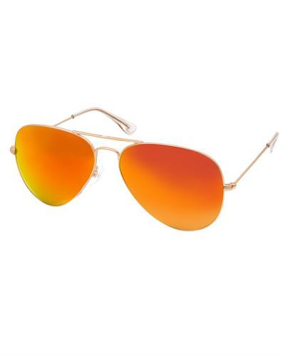 AQS JMS001 Red James Brand New Sunglasses  Gold metal