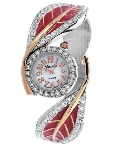 Varsales V4830-3 Brand New Japan Quartz Watch with 0ctw of Precious Stones - crystal and mother of pearl