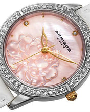 Load image into Gallery viewer, Akribos XXIV AK805SS Brand New Japan Quartz Watch with 0ctw of Precious Stones - crystal and mother of pearl