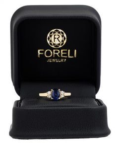 Brand New Ring with 1.15ctw of Precious Stones - diamond and sapphire 14K Yellow gold