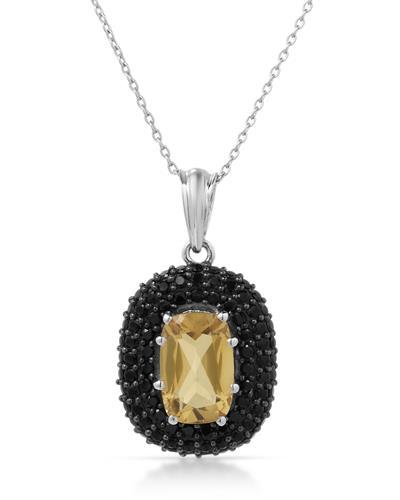 Brand New Necklace with 5.85ctw of Precious Stones - citrine and spinel 925 Silver sterling silver