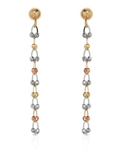 Millana Brand New Earring 14K Three tone gold