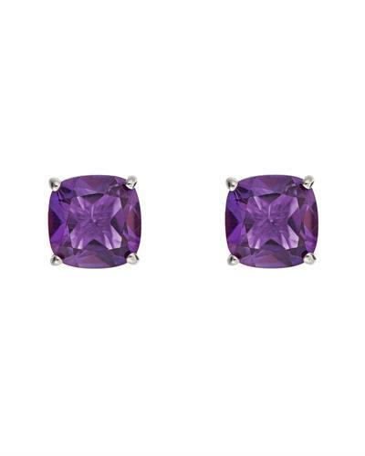 Brand New Earring with 2.88ctw amethyst 925 Silver sterling silver