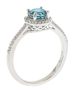 Brand New Ring with 1.01ctw of Precious Stones - diamond and topaz 925 Silver sterling silver
