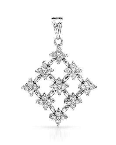 Brand New Pendant with 0.57ctw diamond 18K White gold