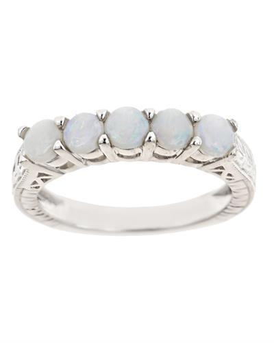 Brand New Ring with 0.8ctw opal 925 Silver sterling silver