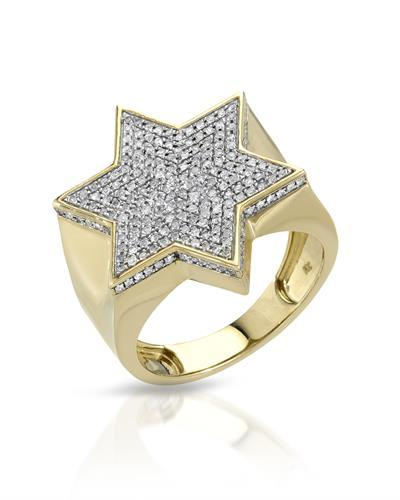 Brand New Ring with 0.62ctw diamond 10K Yellow gold