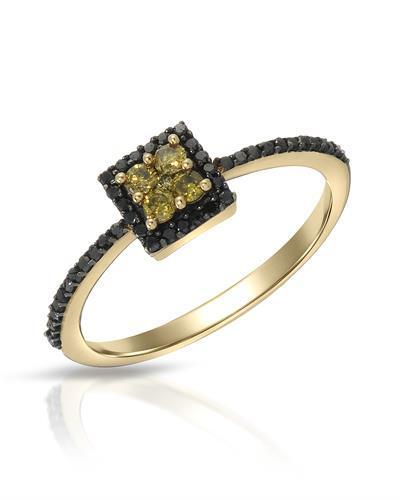 Lundstrom Brand New Ring with 0.35ctw of Precious Stones - diamond and diamond 10K Yellow gold