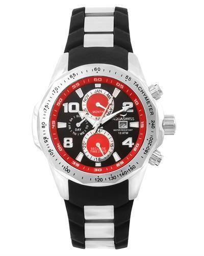 Aquaswiss TR802003 Trax II Brand New Swiss Quartz day date Watch