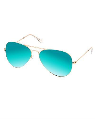 AQS JMS007 Teal James Brand New Sunglasses  Yellow metal