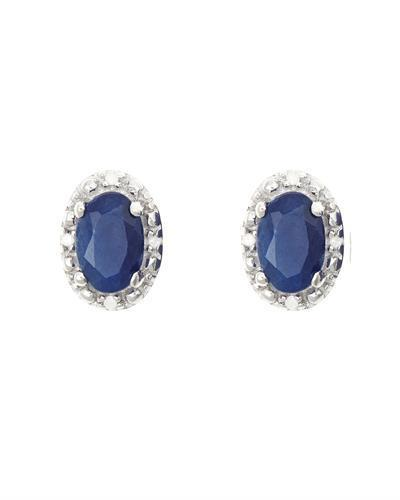 Brand New Earring with 1.22ctw of Precious Stones - diamond and sapphire 925 Silver sterling silver