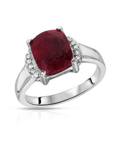 Brand New Ring with 4.2ctw of Precious Stones - ruby and topaz 925 Silver sterling silver
