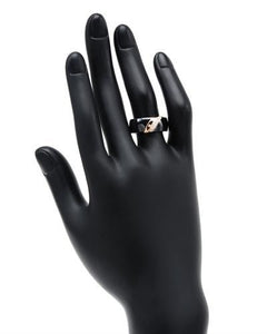 Lundstrom Brand New Ring with 0.08ctw diamond  Black ceramic and 14K Rose gold