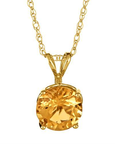 Brand New Necklace with 1.3ctw citrine 14K Yellow gold