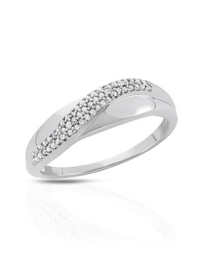 Brand New Ring with 0.16ctw diamond 10K White gold
