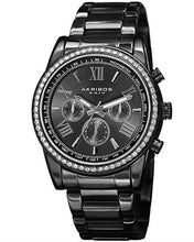 Load image into Gallery viewer, Akribos XXIV AK868BK Brand New Quartz day date Watch with 0ctw crystal
