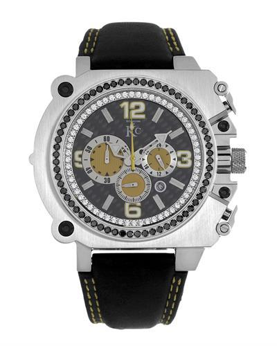 KC Brand New Japan Quartz date Watch with 1.75ctw of Precious Stones - crystal and diamond