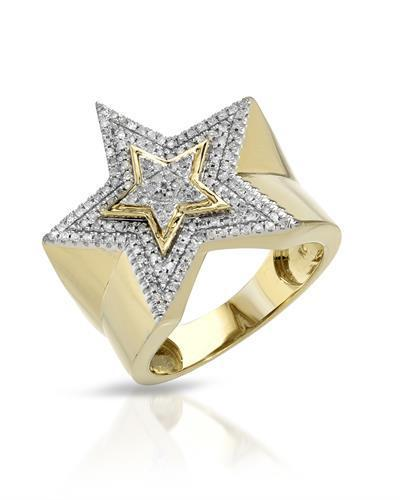 Brand New Ring with 0.45ctw diamond 10K Yellow gold