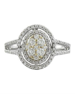 0.60 Carat Diamond 14K White Gold Ring
