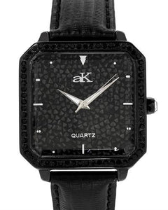 Adee Kaye AK9112-IPB Brand New Japan Quartz Watch with 0ctw of Precious Stones - crystal and Swarovski Crystal