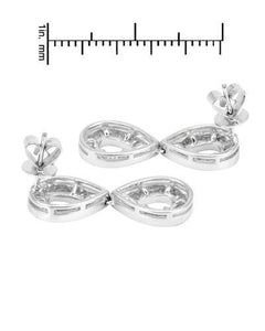 Brand New Earring with 1.12ctw diamond 18K White gold