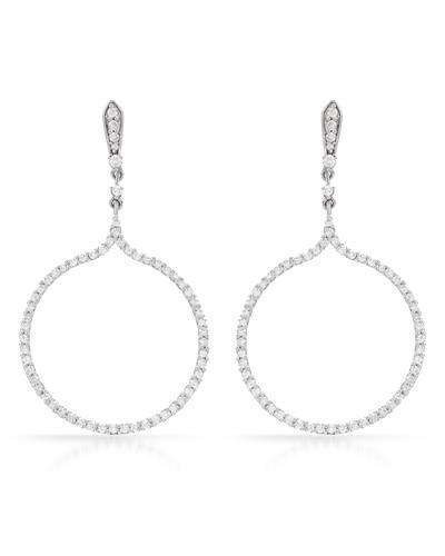 Brand New Earring with 0.78ctw diamond 14K White gold